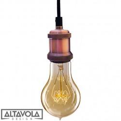 Lampa wisząca INDUSTRIAL CHIC- RÓŻOWE ZŁOTO-ŻARÓWKA EDISON-LAMPA WISZĄCA bf02 ALTAVOLA