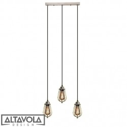 Lampa wisząca KOPENHAGEN LOFT CHROM CL - ŻYRANDOL ALTAVOLA