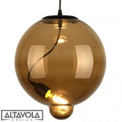Lampa wisząca szklana Modern Glass Bubble - brązowa ALTAVOLA