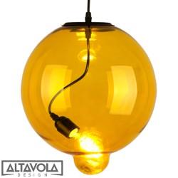 Lampa wisząca szklana Modern Glass Bubble - bursztynowa ALTAVOLA