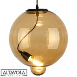 Lampa wisząca szklana Modern Glass Bubble - cognac ALTAVOLA