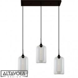 Lampa wisząca szklana LONDON LOFT No. 4CL żyrandol ALTAVOLA