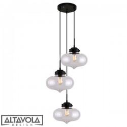Lampa wisząca szklana LONDON LOFT No. 1 CO - żyrandol ALTAVOLA
