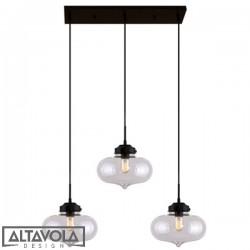 Lampa wisząca szklana LONDON LOFT NO. 1 CL – żyrandol ALTAVOLA