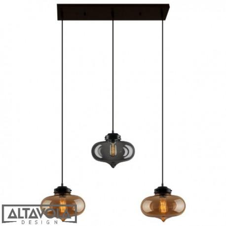 Lampa wisząca szklana LONDON LOFT NO. 1 CL BSB– żyrandol ALTAVOLA
