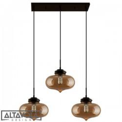 Lampa wisząca szklana LONDON LOFT NO. 1 CL B – żyrandol ALTAVOLA