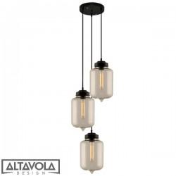 Lampa wisząca szklana LONDON LOFT NO. 2 CO – żyrandol ALTAVOLA