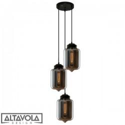 Lampa wisząca szklana LONDON LOFT NO. 2 CO S – żyrandol ALTAVOLA