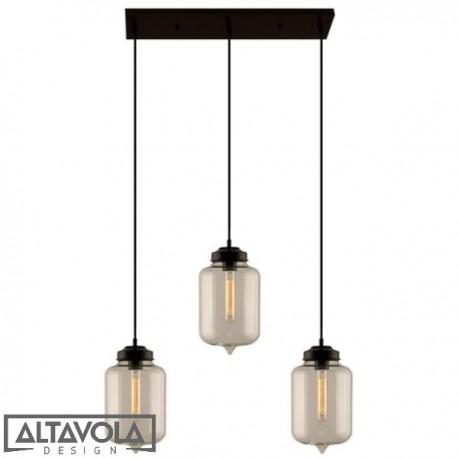 Lampa wisząca szklana LONDON LOFT NO. 2 CL – żyrandol ALTAVOLA