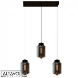 Lampa wisząca szklana LONDON LOFT NO. 2 CL S – żyrandol ALTAVOLA