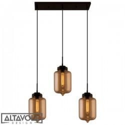 Lampa wisząca szklana LONDON LOFT NO. 2 CL B – żyrandol ALTAVOLA