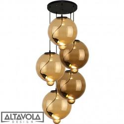 Lampa wisząca szklana Modern Glass Bubble CO – żyrandol ALTAVOLA