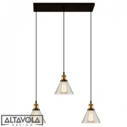 Lampa wisząca szklana NEW YORK LOFT No. 1 CL - żyrandol ALTAVOLA