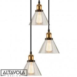 Lampa wisząca szklana NEW YORK LOFT No. 1 CO - żyrandol ALTAVOLA