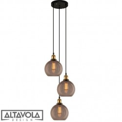 Lampa wisząca szklana NEW YORK LOFT No. 2 S/CO - żyrandol ALTAVOLA