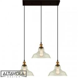 Lampa wisząca szklana NEW YORK LOFT NO. 3 CL - żyrandol ALTAVOLA