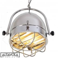 Lampa wisząca SoHo LOFT - INDUSTRIALNA chromowana ALTAVOLA