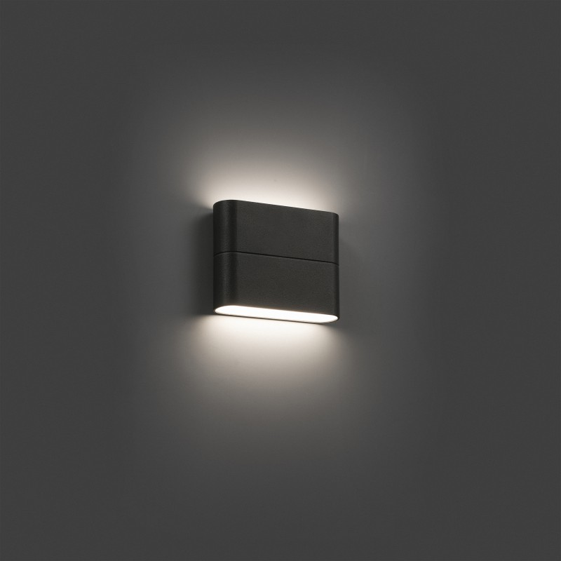 Kinkiet zewn trzny aday 1 led dark grey wall lamp faro lume - Lamparas de aplique para pared ...