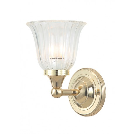 Kinkiet Bathroom Austen1 Polished Brass Elstead
