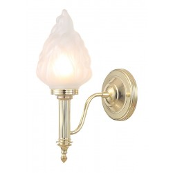 Kinkiet Bathroom Carroll3 Polished Brass Elstead