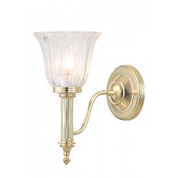 Kinkiet Bathroom Carroll1 Polished Brass Elstead