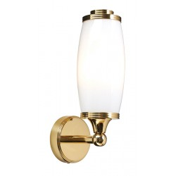 Kinkiet Bathroom Eliot Single Wall Light Polished Brass Elstead