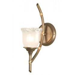 Kinkiet Bathroom Bamboo 1Lt Wall Light Bronze Elstead
