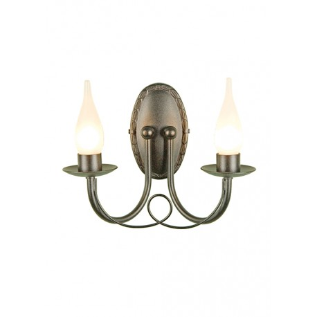 Kinkiet Bathroom Minster 2Lt Wall Light Black  Elstead